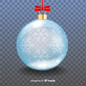 Piękna kryształowa świąteczna kula