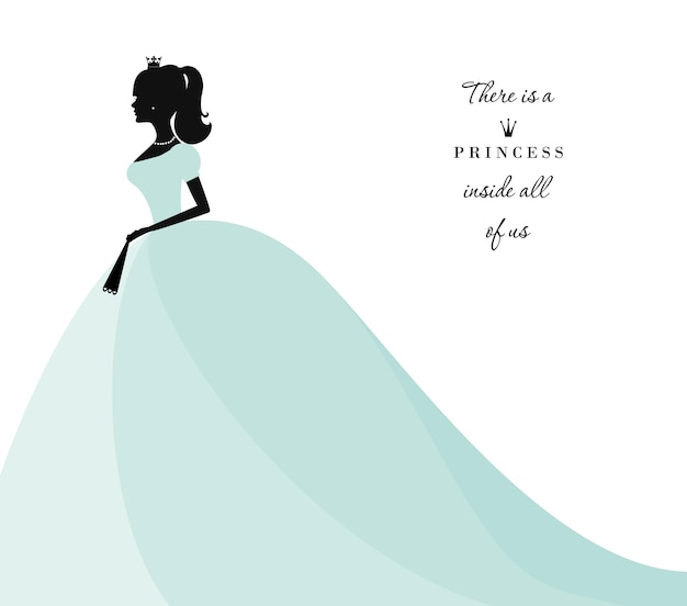 Piękna księżniczka sylwetka.