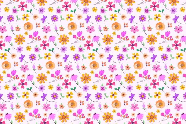 Piękna kwiatowa tapeta ditsy