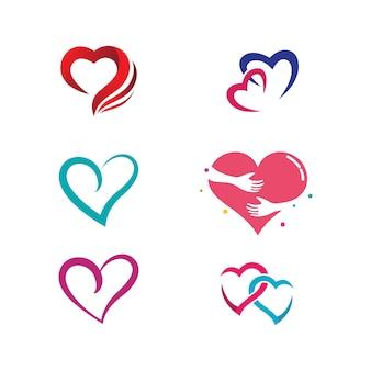 Piękna miłość wektor ikona ilustracja projekt szablonu