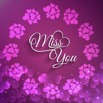 Piękna miss you kartkę z życzeniami