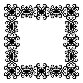 Piękna monochromatyczna abstrakcyjna czarna ramka