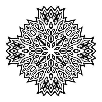Piękna monochromatyczna ilustracja wektorowa tribal tatuaż z abstrakcyjnym czarnym pojedynczym wzorem
