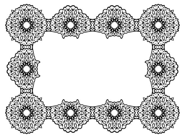 Piękna monochromatyczna ilustracja wektorowa z abstrakcyjnym czarnym prostokątem fantasy na białym tle na białym tle
