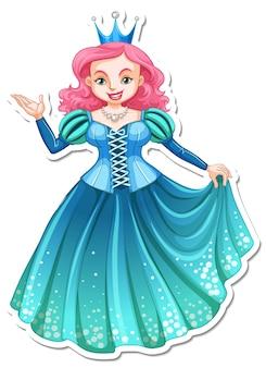 Piękna naklejka z postacią z kreskówki królowej
