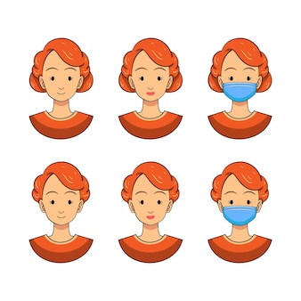 Piękna nursel avatar prosta ilustracja