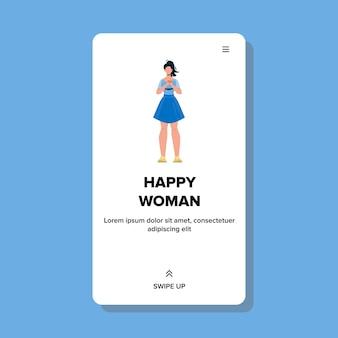 Piękna optymistyczna wesoła szczęśliwa kobieta