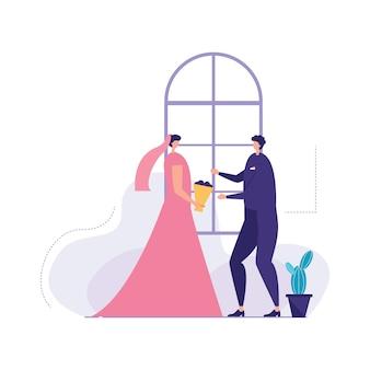 Piękna para ślub