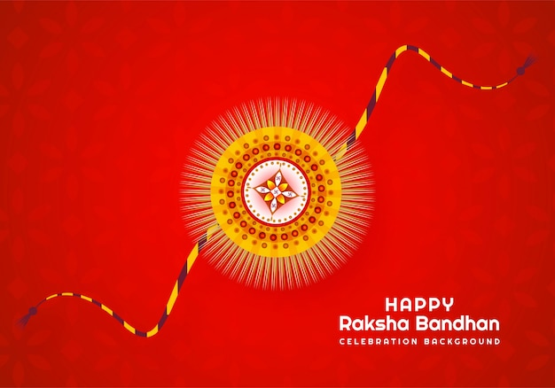 Piękna raksha bandhan indyjska karta festiwalu