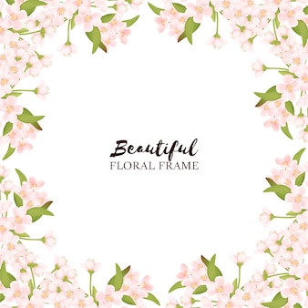 Piękna rama kwiat wiśni