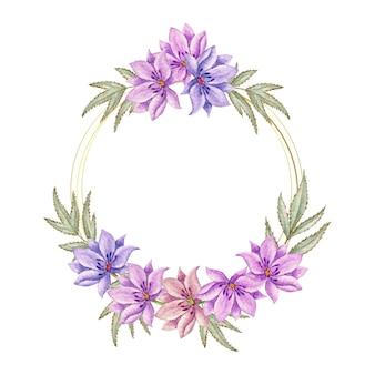 Piękna ramka w kwiaty