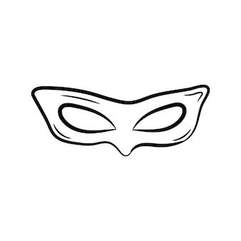 Piękna ręcznie rysowane ikona maski mody ręcznie rysowane czarny szkic