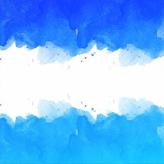 Piękna ręka narysować niebieskie tło akwarela