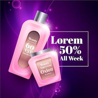 Piękna reklama kosmetyczna