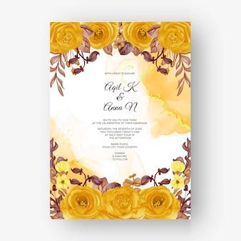 Piękna róża rama jesień jesień tło