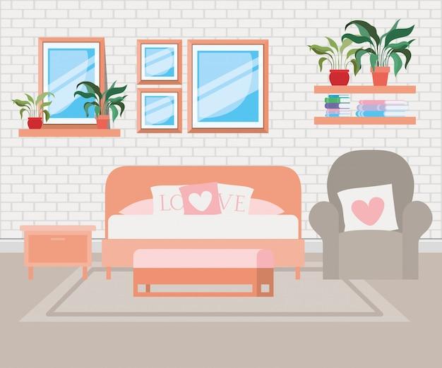 Piękna scena domowa