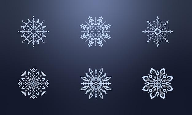Piękna scenografia z płatków śniegu