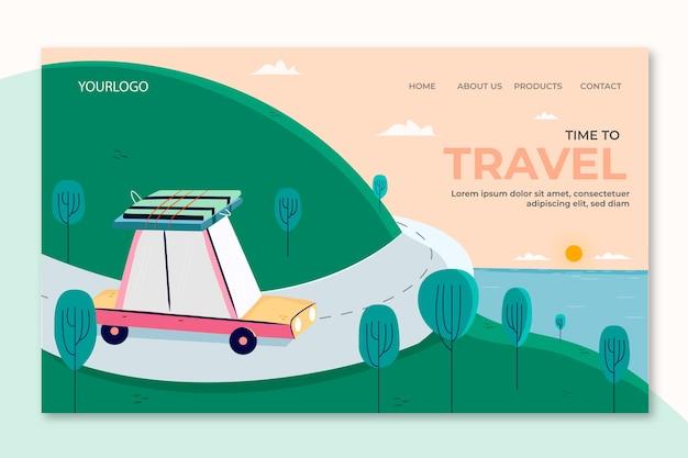 Piękna strona docelowa podróży