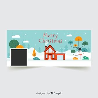 Piękna, świąteczna okładka na facebooku