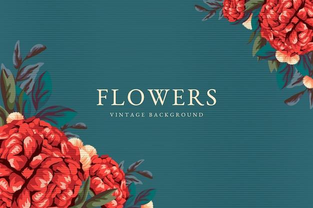 Piękna tapeta w stylu vintage kwiaty