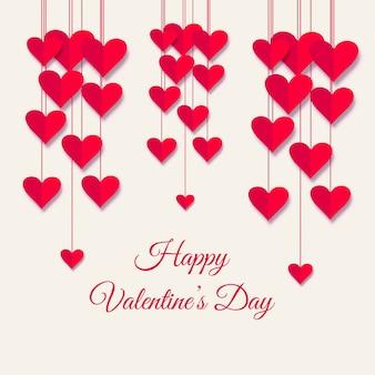 Piękna valentine dnia tła karciana ilustracja