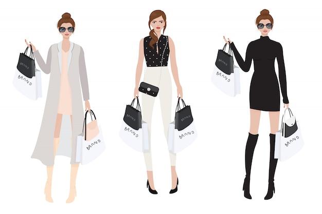 Piękna zamożna dziewczyna robi zakupy