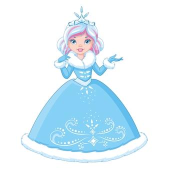Piękna zimowa księżniczka