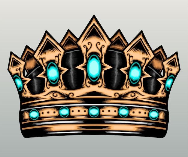 Piękna złota korona.