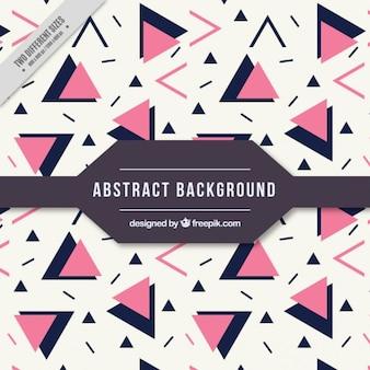 Piękne abstrakcyjne tło z różowymi i czarnymi trójkątami