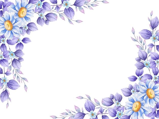 Piękne akwarele fioletowe liście tło