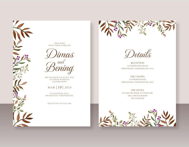 Piękne akwarele zaproszenia ślubne