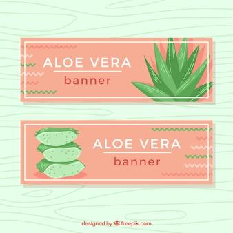 Piękne banery aloe vera