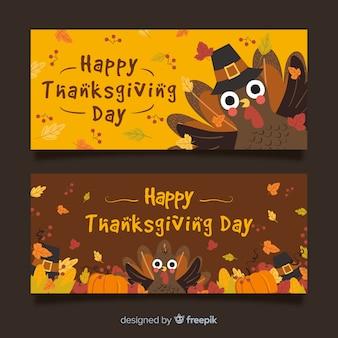 Piękne banery dziękczynienia