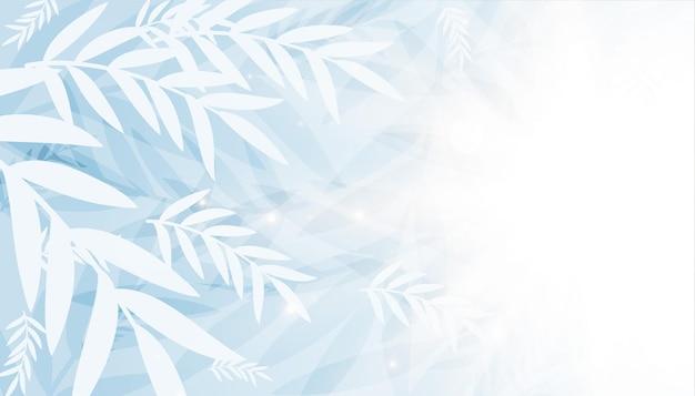 Piękne białe liście z miejscem na tekst