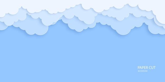 Piękne chmury na niebieskim tle nieba