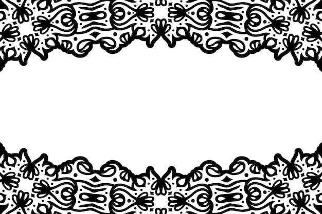 Piękne czarne tło wektor plemienny z białą przestrzenią kopii