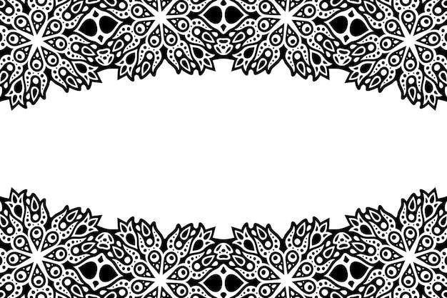 Piękne czarno-białe tło wektor plemienny z miejsca na kopię