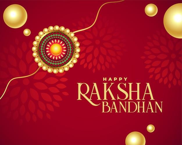 Piękne czerwone tło kartki z życzeniami raksha bandhan