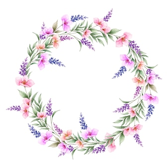Piękne dzikie wiosenne kwiaty ramki