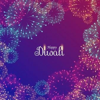 Piękne fajerwerki festiwalu diwali