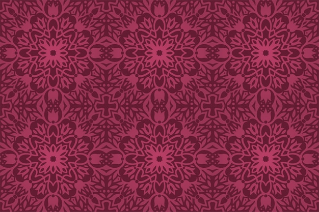 Piękne fioletowe tło wektor z abstrakcyjnym kwiatowym wzorem bez szwu
