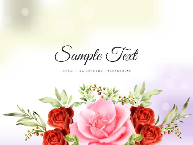 Piękne i eleganckie handrawn kwiatowy tle akwarela