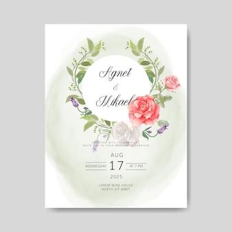 Piękne i romantyczne zaproszenie na ślub