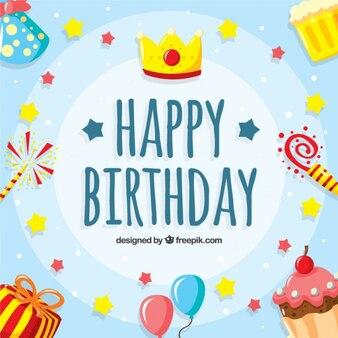 Piękne i zabawne tło urodziny