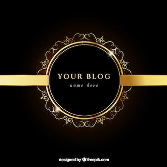 Piękne i złote blog nagłówek
