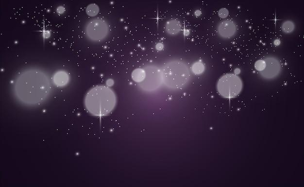 Piękne iskry błyszczą specjalnymi błyskami światła na przezroczystym tle boże narodzenie ab