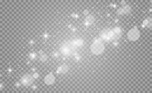 Piękne Iskry Lśnią Specjalnym Efektem świetlnym Premium Wektorów