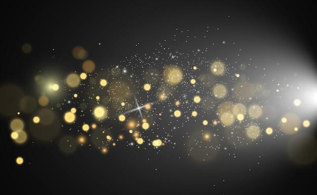 Piękne iskry świecą specjalnym światłem. błyszczy. boże narodzenie abstrakcyjny wzór.