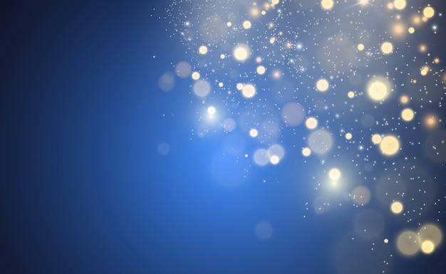 Piękne Iskry świecą Specjalnym światłem. Błyszczy. Premium Wektorów