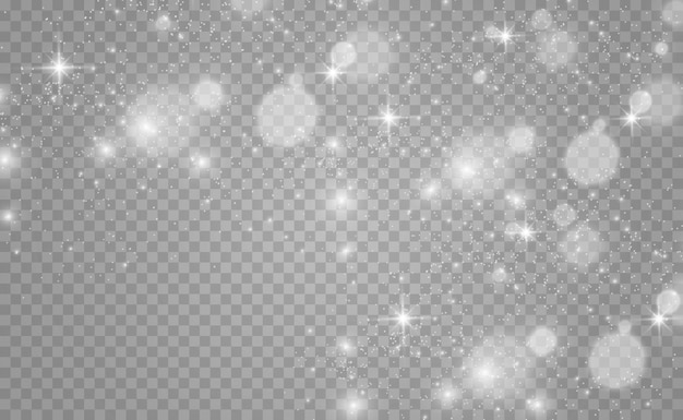 Piękne iskry świecą specjalnym światłem wektor błyszczy na przezroczystym tle boże narodzenie ab
